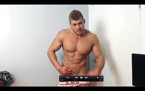 Muscle Ripped Shredded Hunk Pecs Shaving Shirt Suit Armpit Fetish Oil Domination Masturbation Bodybuilder Gay Video