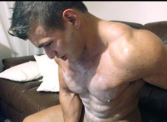 Muscle Ripped Shredded Hunk Pecs Balloons Rubber Latex Armpit Fetish Oil Domination Masturbation Bodybuilder Gay Video