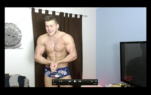 Posers JockFlexing Hunk Pecs Sweat Alpha Bum Armpit Fetish Oil Domination Masturbation Bodybuilder Gay Video