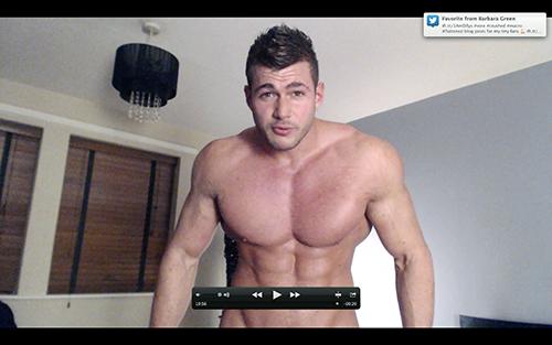 Muscle Ripped Shredded Hunk Pecs Levi Shirt Suit Armpit Fetish Oil Domination Masturbation Bodybuilder Gay Video