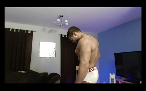 Uniform MuscleGod Muscle Flexing Hunk Worship Sweat Alpha Video Armpit Fetish Oil Domination Masturbation Bodybuilder Gay Video