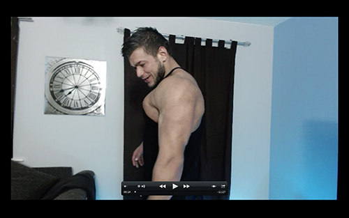 Biceps Hot Flexing Hunk Pecs Sweat Alpha Bum Armpit Fetish Oil Domination Masturbation Bodybuilder Gay Verbal