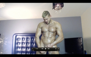 Uniform MuscleGod Muscle Flexing Hunk Worship Sweat Alpha Video Armpit Fetish Oil Domination Masturbation Bodybuilder Gay Video