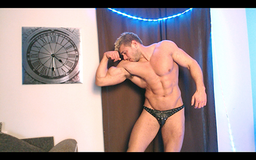 Muscle Flexing Hunk Worship Sweat RolePlay Uniform Cock Tease Masturbation Alpha Video Armpit Fetish Oil Domination