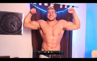 Muscle Flexing Hunk Worship Sweat RolePlay Uniform Cock Tease Masturbation Alpha Video Armpit Fetish Oil Domination