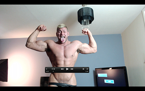 Muscle Ripped Shredded Hunk Pecs Levi Shirt Suit Armpit Fetish Oil Domination Masturbation Bodybuilder Gay Video