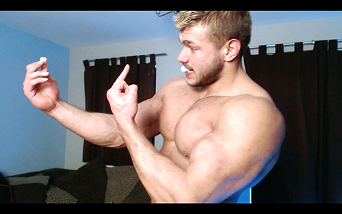 Posers JockFlexing Hunk Pecs Sweat Alpha Bum Armpit Fetish Oil Domination Masturbation Bodybuilder Gay Video