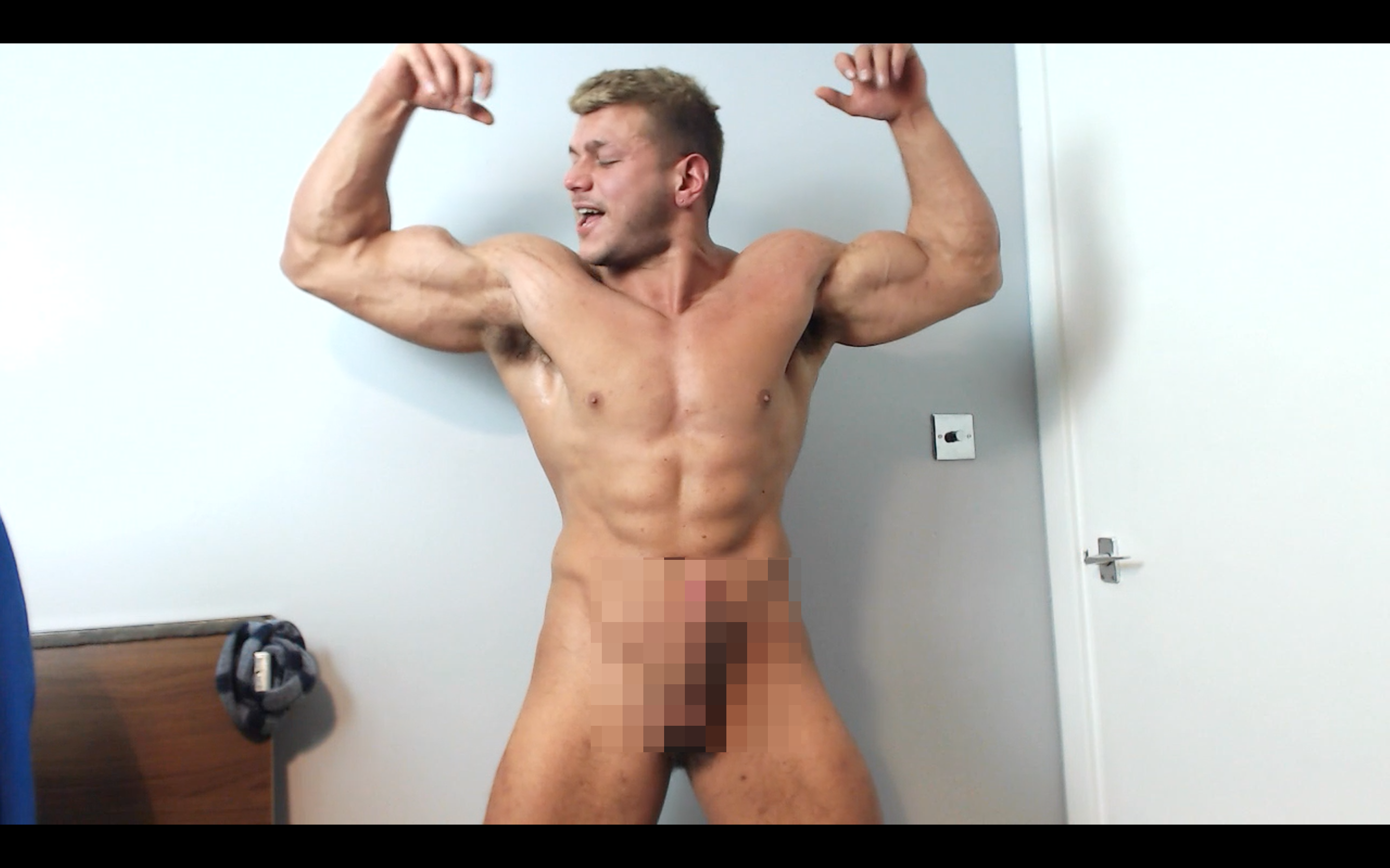 Muscle Ripped Shredded Hunk Pecs Shaving Shirt Suit Armpit Fetish Oil Domination Masturbation Bodybuilder Gay Video