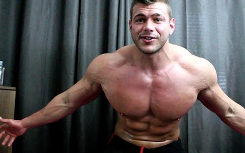 Muscle Ripped Shredded Hunk Pecs Wank Vest Tshirt Armpit Fetish Oil Domination Masturbation Bodybuilder Gay Video
