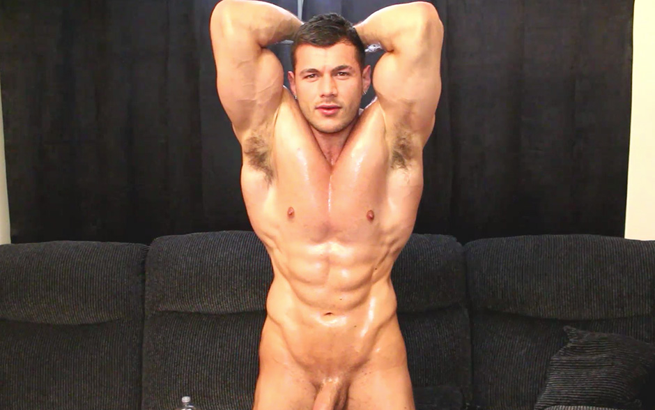 Worship my oiled muscle cock